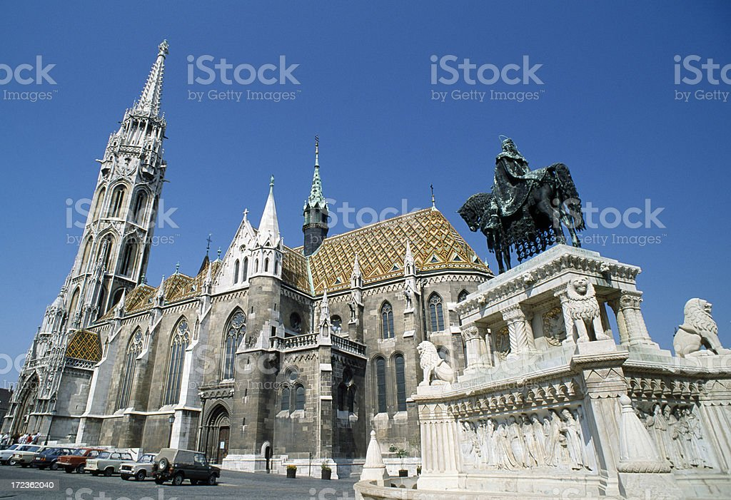 St Matthias Cathedral in Budapest Hungary royalty-free stock photo