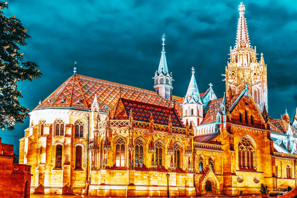 Budapeşte'deki St. Matthias Kilisesi. stok fotoğrafı