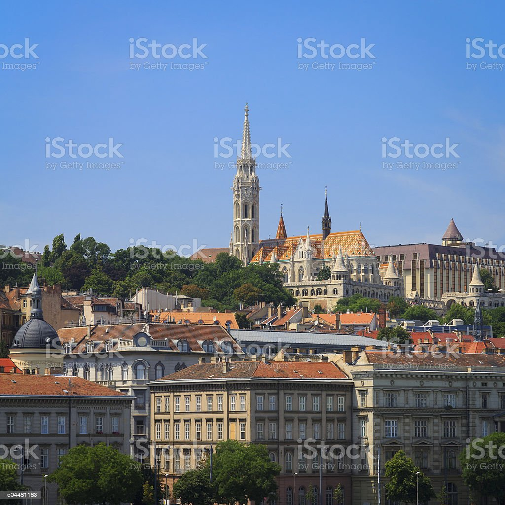 St Matthias Church in Budapest royalty-free stock photo
