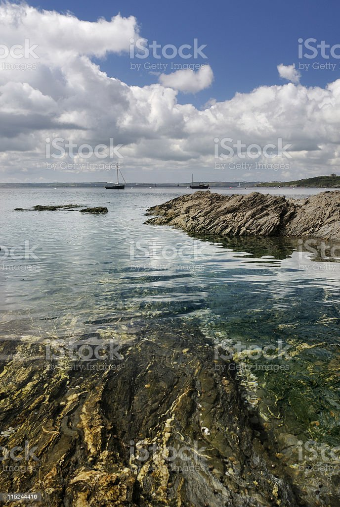 St Mawes Harbour stock photo