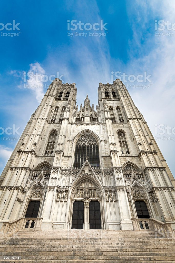 St. Michael and Gudula Cathedral in Brussels royalty-free stock photo