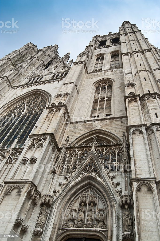St. Michael and Gudula Cathedral stock photo