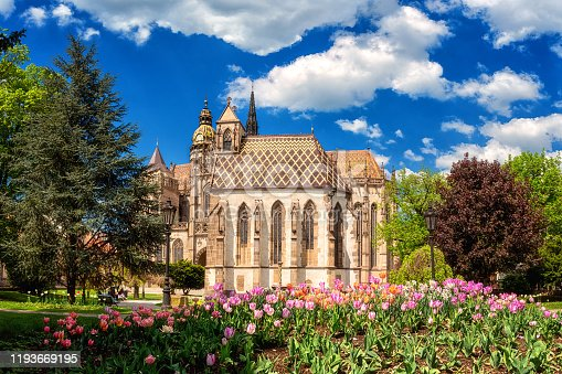 istock St. Michael chapel and St. Elisabeth cathedral in Kosice, Slovakia (Slovensko). Beautiful daytime cityscape 1193669195