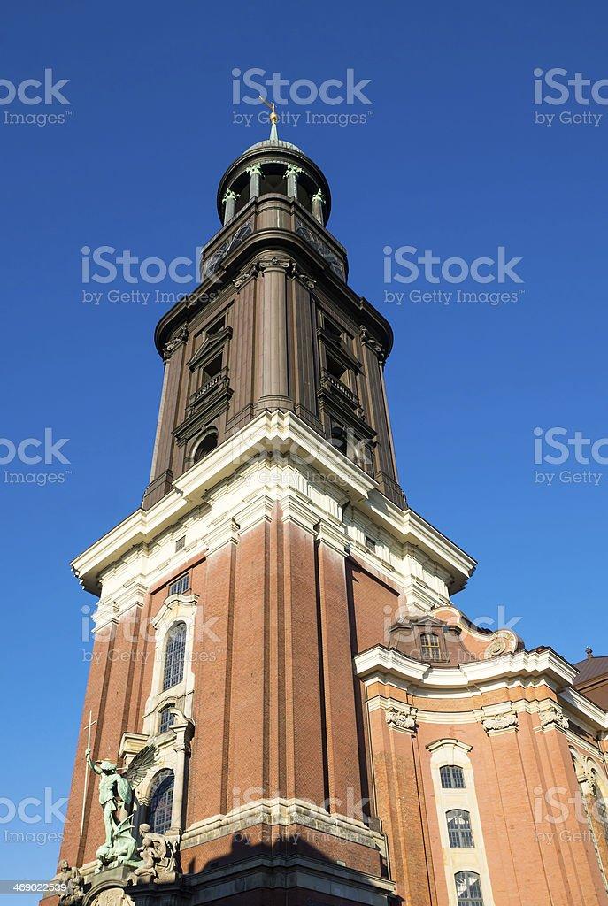 St. Michael church in Hamburg stock photo