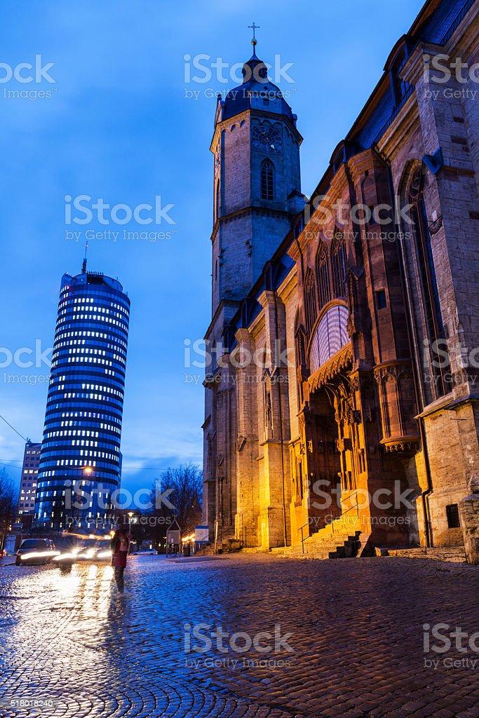 St. Michael Church in Jena stock photo