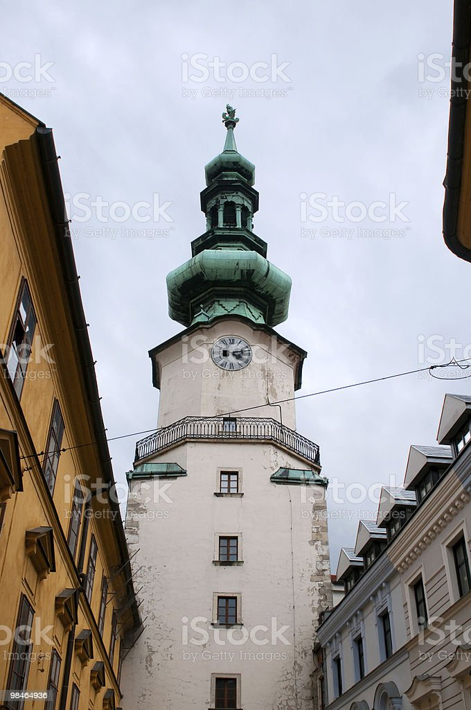 St. Michael gate (Michalska Brana) royalty-free stock photo