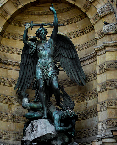 St Michael Statue Stock Photo - Download Image Now