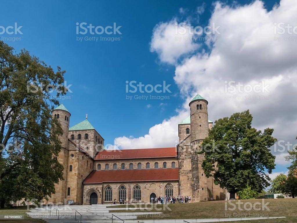 St. Michaelis church in Hildesheim, Germany stock photo