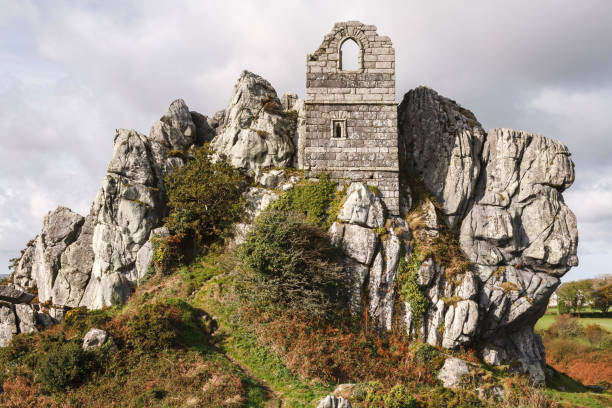 St Michael's Chapel, Roche Rock, Cornwall stock photo