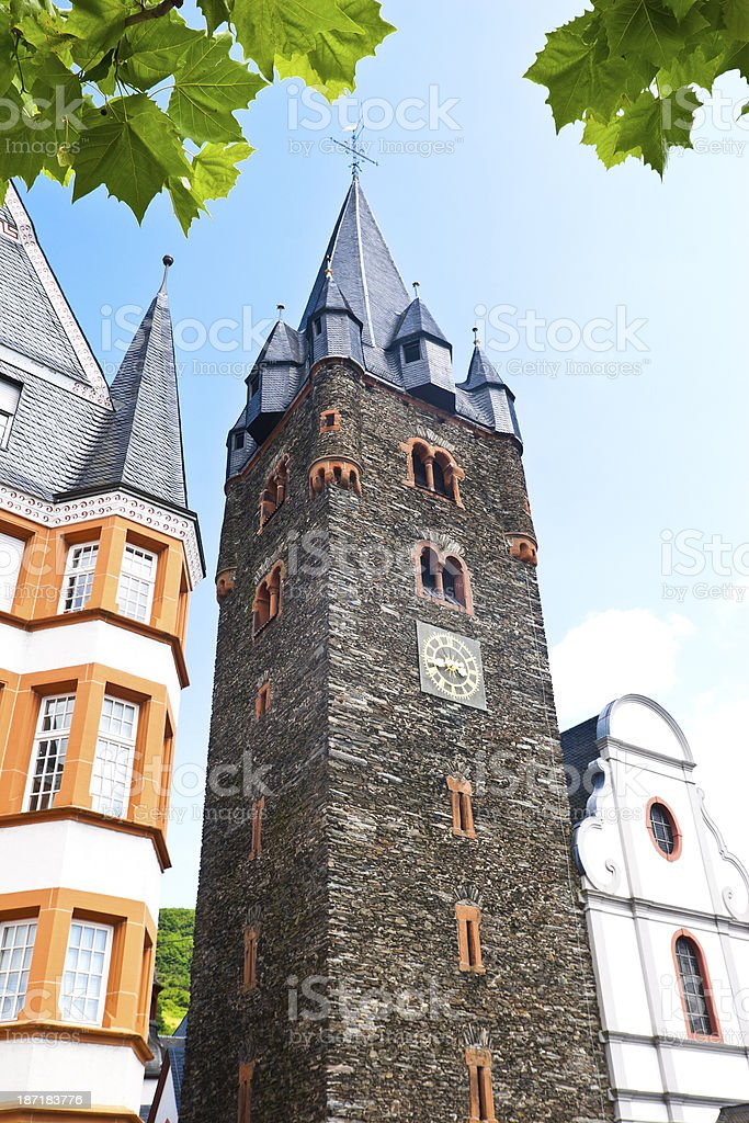 St. Michael's Church at the River Moselle royalty-free stock photo