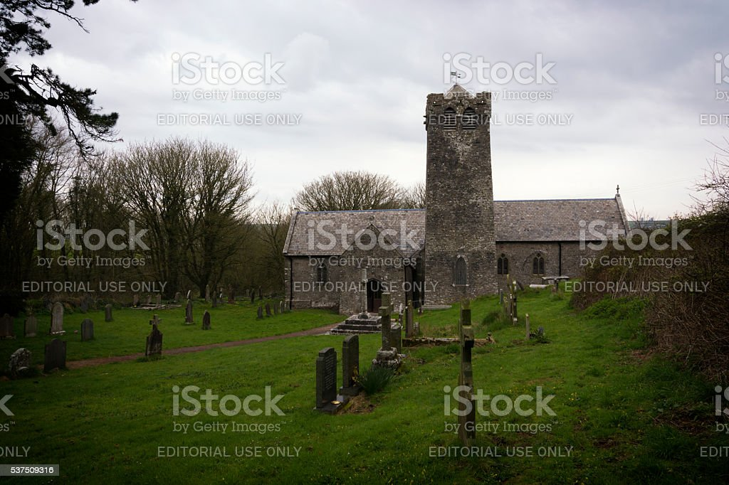 St. Michael's Church Castlemartin, Pembrokeshire South Wales, UK stock photo