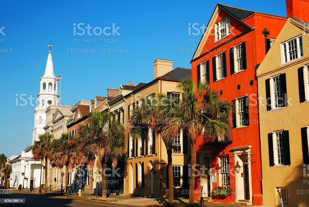 St Michaels Church, Historic Charleston, SC stock photo