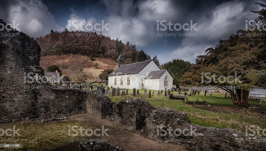 St Michael's church in Talley stock photo