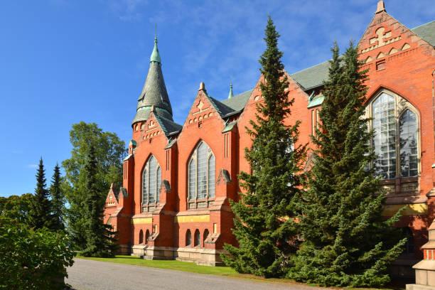 Iglesia de St Michael es situado en el centro de Turku. Se nombra después de Archangel Michael y fue terminada en 1905. Suomi - foto de stock