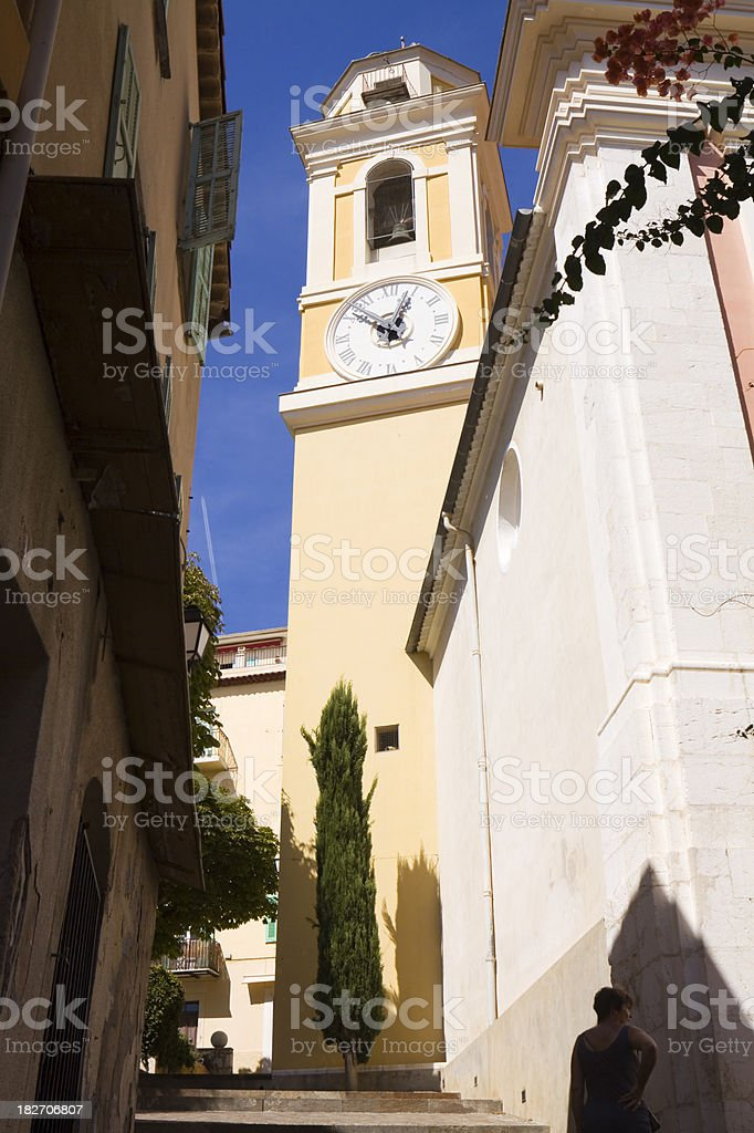 St Michaels Church Villefranche royalty-free stock photo