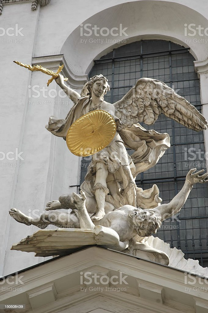 St. Michaels church.Vienna stock photo
