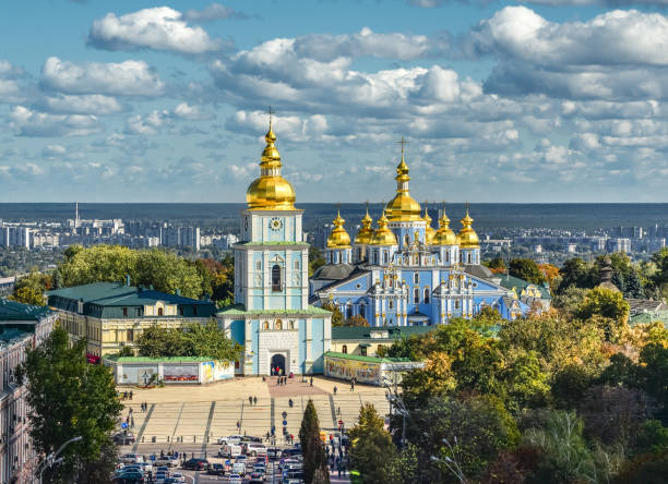 st. michael's golden-domed monastery, kiev, ukraine - ukraine stock pictures, royalty-free photos & images
