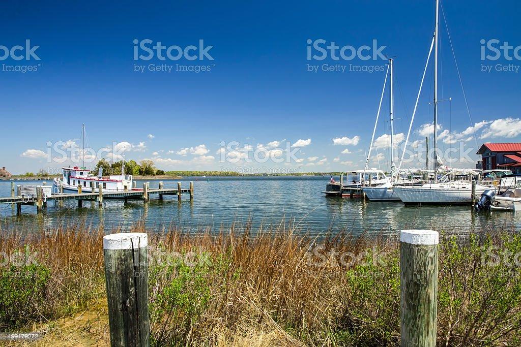 St. Michael's Harbor in Maryland stock photo