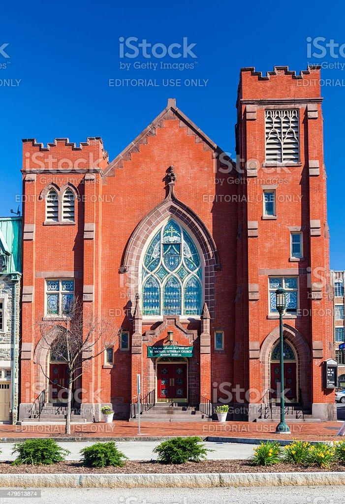 St. Michael's Lutheran Church In Harrisburg, Pennsylvania stock photo