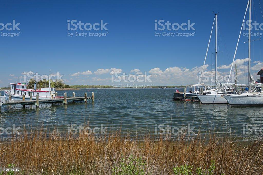 St. Michael's, Maryland, Chesapeake Bay Maritime Museum stock photo