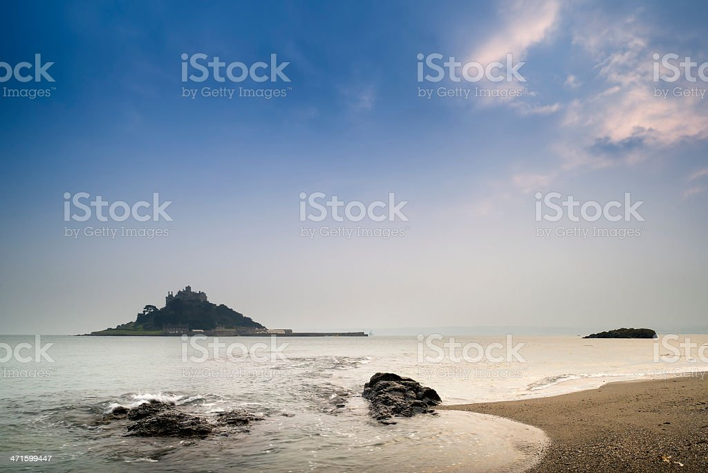 St Michael's Mount Bay Marazion long exposure landscape royalty-free stock photo