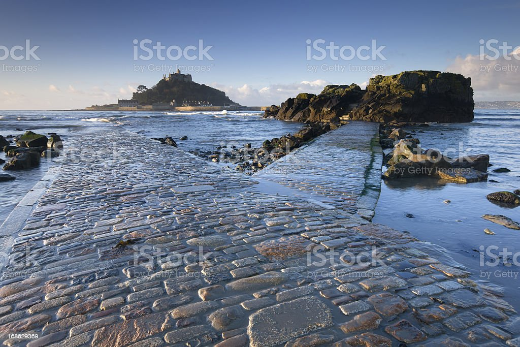 St Michael's Mount Cornwall at dawn stock photo