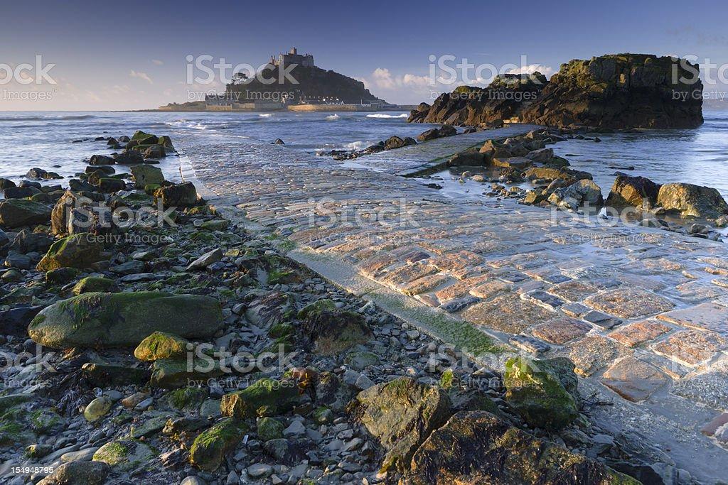 St Michael's Mount Cornwall stock photo