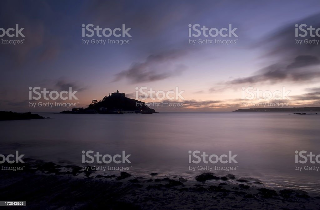 St Michaels Mount Dusk royalty-free stock photo