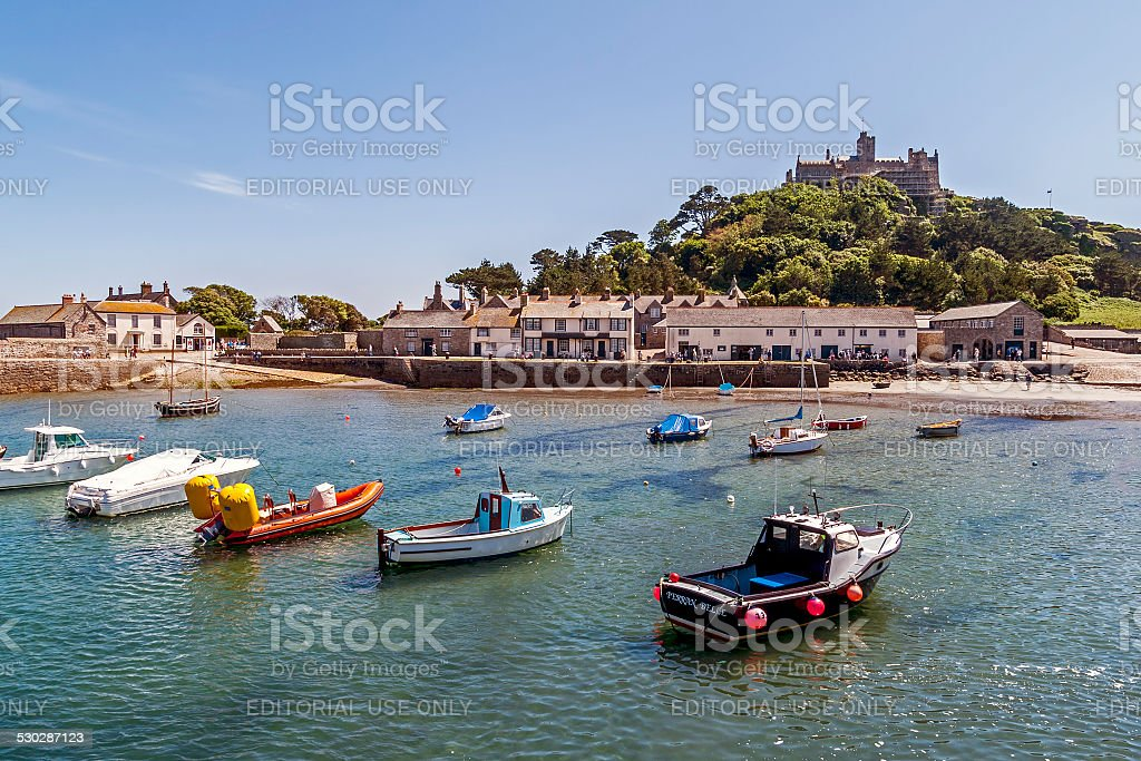 St Michaels Mount Harbour Cornwall royalty-free stock photo