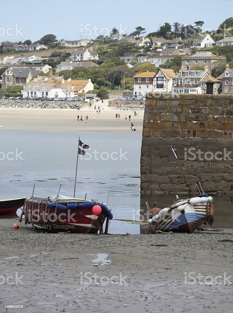 St Michael's Mount harbour, Cornwall, UK stock photo