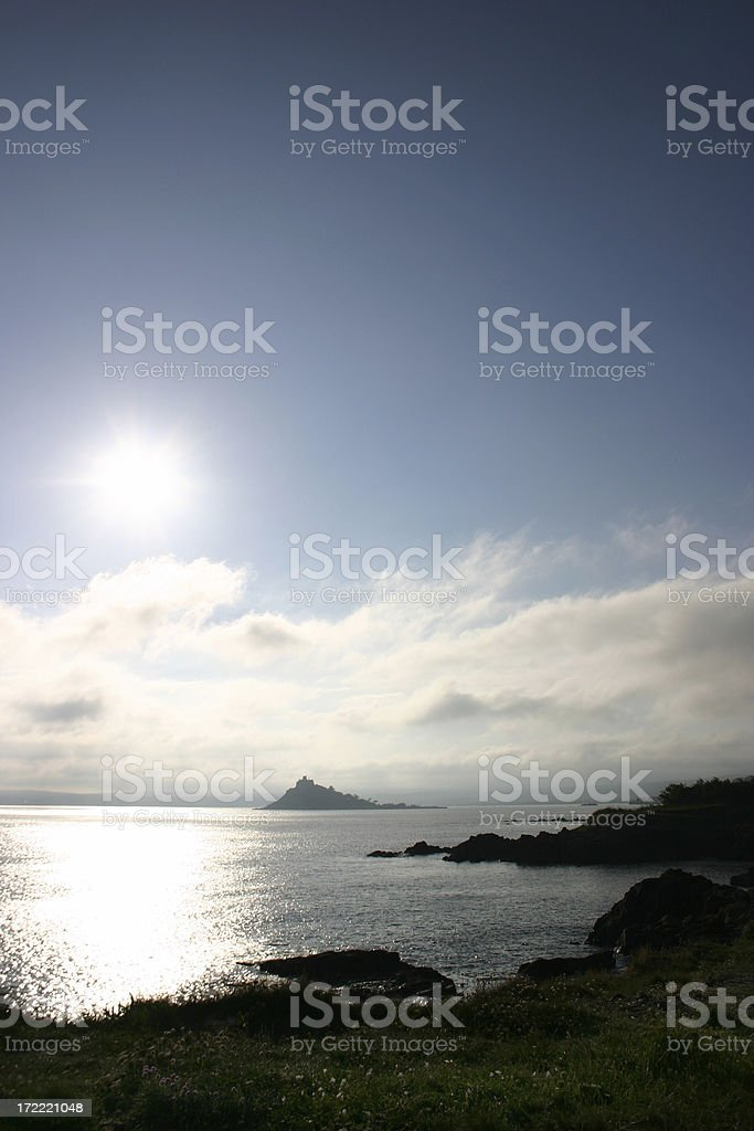 St Michaels Mount Late Afternoon royalty-free stock photo