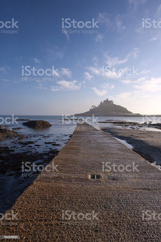 St Michael's Mount Mist royalty-free stock photo