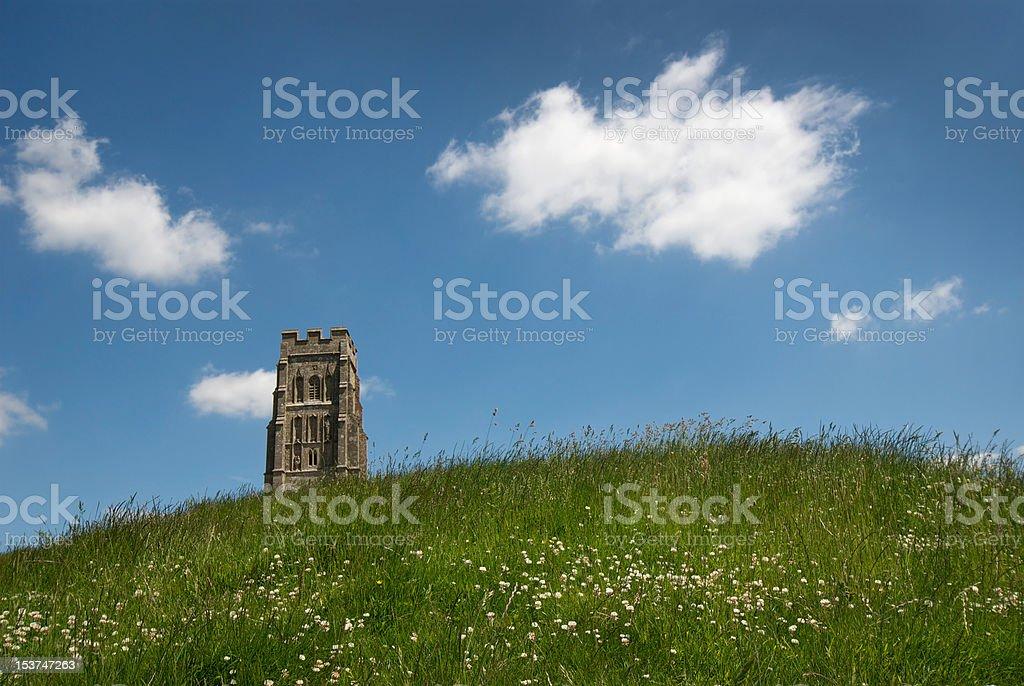 St Michael's Tower, Glastonbury Tor stock photo