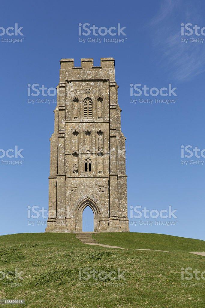 St Michael's Tower Glastonbury Tor Somerset England stock photo