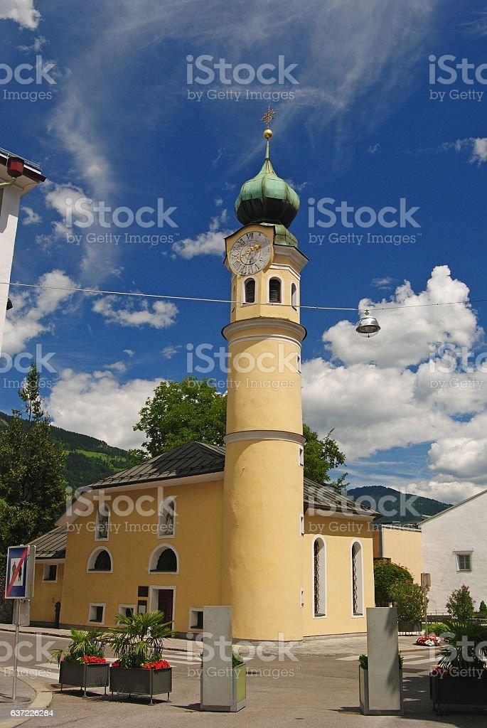 St. Michaelskirche in Lienz stock photo