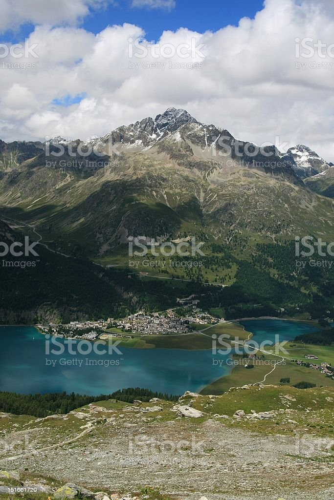 St. Moritz area, Switzerland royalty-free stock photo