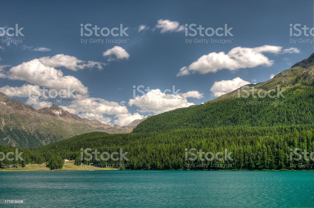 St. Moritz lake royalty-free stock photo