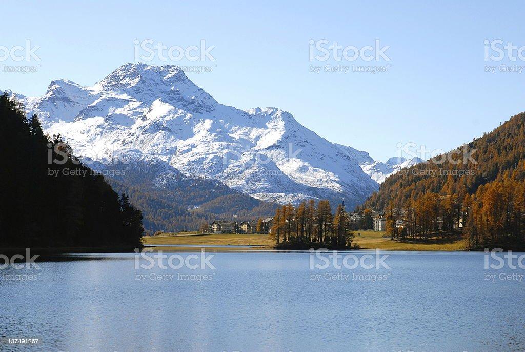 St. Moritz Panorama royalty-free stock photo