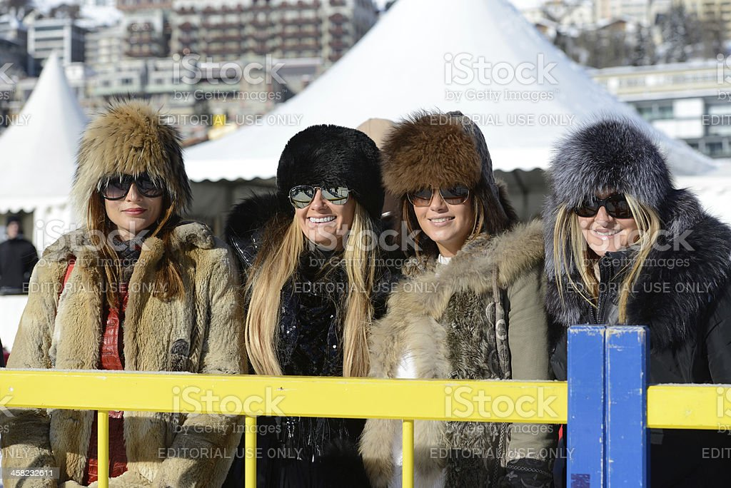 St. Moritz Polo World Cup on Snow stock photo