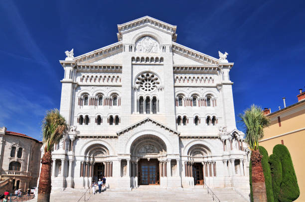 St. Nicholas Cathedral, Monaco Cathedral. St. Nicholas Cathedral, Monaco Cathedral, Monaco Ville, Old Town, Le Rocher (The Rock), Monaco, Cote d'Azur, Europe. ville stock pictures, royalty-free photos & images