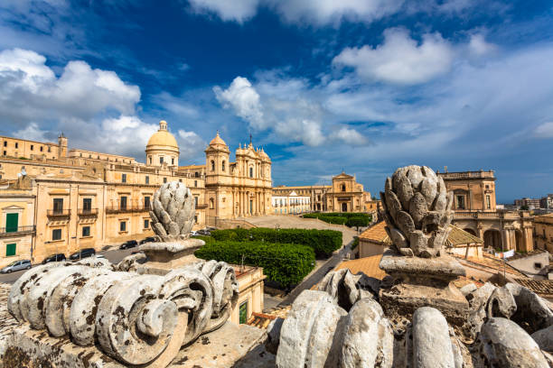 St Nicholas Cathedral of Noto, Sicily, Italy.