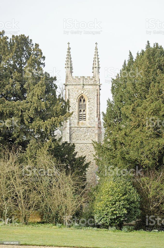 St Nicholas Church, Chawton, Hampshire stock photo
