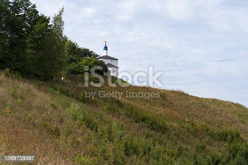 St. Nicholas church (XVII century) in ancient Truvorovo settlement  . Izborsk, Pskov Region, Russia.