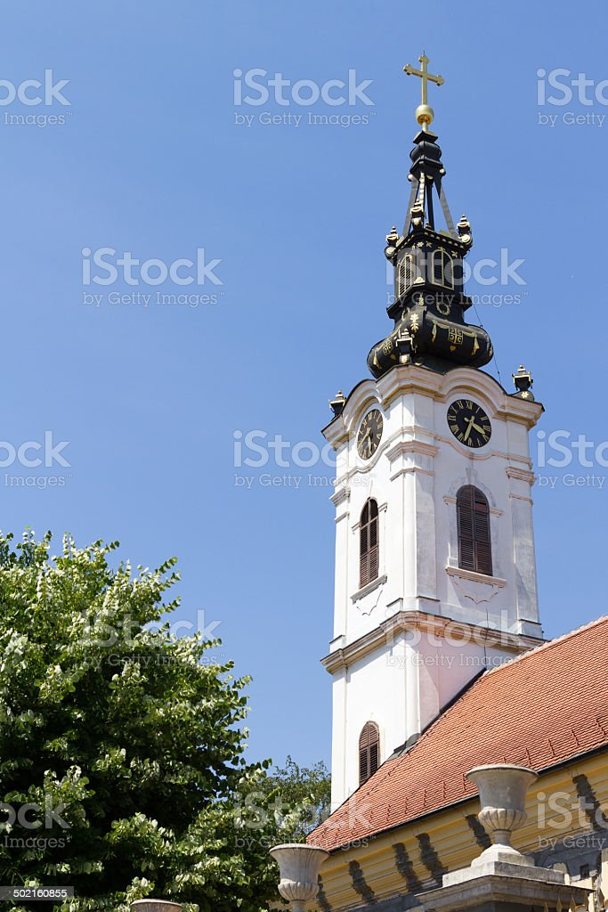 St. Nicholas Church in Belgrade stock photo