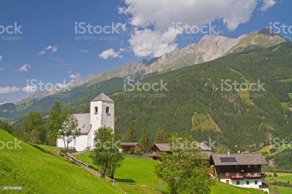 St. Nicholas Church in East Tyrol stock photo