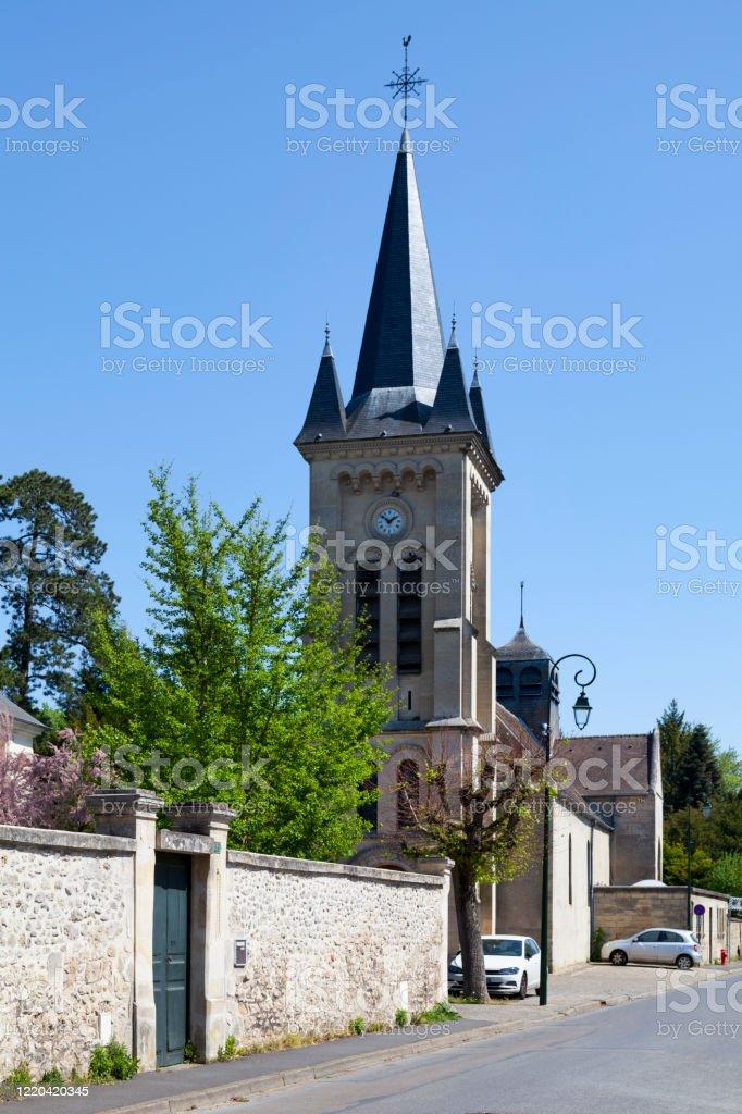 St. Nicholas Church in Lamorlaye (Oise) - Royalty-free 19th Century Stock Photo