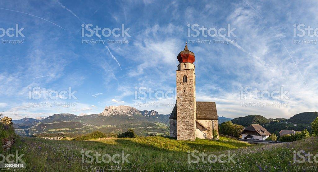 St. Nicholas Church in Mittelberg stock photo