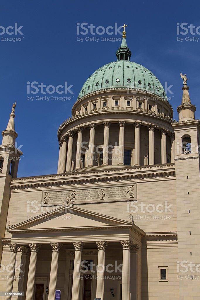 St. Nicholas Church in Potsdam, Germany royalty-free stock photo