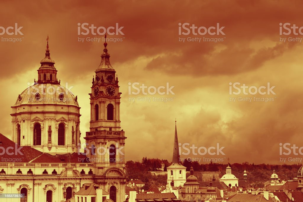 St. Nicholas church in Prague royalty-free stock photo