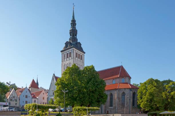 St. Nicholas' Church in Tallinn stock photo